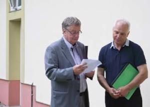 Herr Dr Harcks und Herr Herrmann (re.)